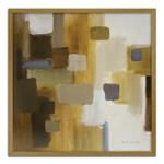 Quadro Decorativo Abstrato em Madeira Crua