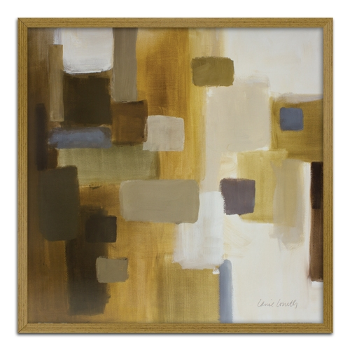 Quadro Decorativo Abstrato em Madeira Crua - 63x63 cm