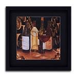 Quadro Decorativo Adega com Vinhos em Madeira
