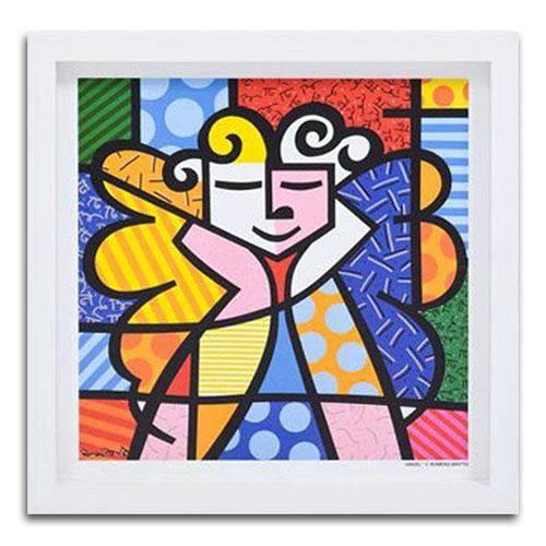 Quadro Decorativo Angel em Madeira - 38x38 cm