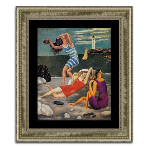 Quadro Decorativo A Banhista em Madeira - 100x86 cm