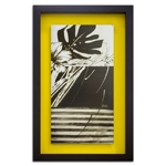 Quadro Decorativo Black And White Leaves II em Madeira