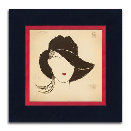 Quadro Decorativo Black Borsalino em Madeira - 46x46 cm