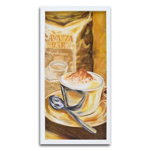 Quadro Decorativo Bom Café em Madeira - 74x37 cm