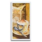 Quadro Decorativo Bom Café em Madeira