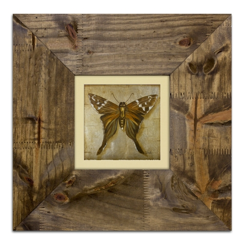Quadro Decorativo Bown Butterfly em Madeira - 42x42 cm