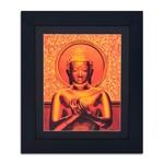 Quadro Decorativo Buda Dourado em Madeira