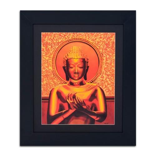 Quadro Decorativo Buda Dourado em Madeira - 71x61 cm