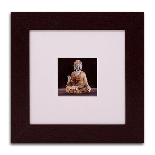 Quadro Decorativo Buda em Madeira - 51x51 cm