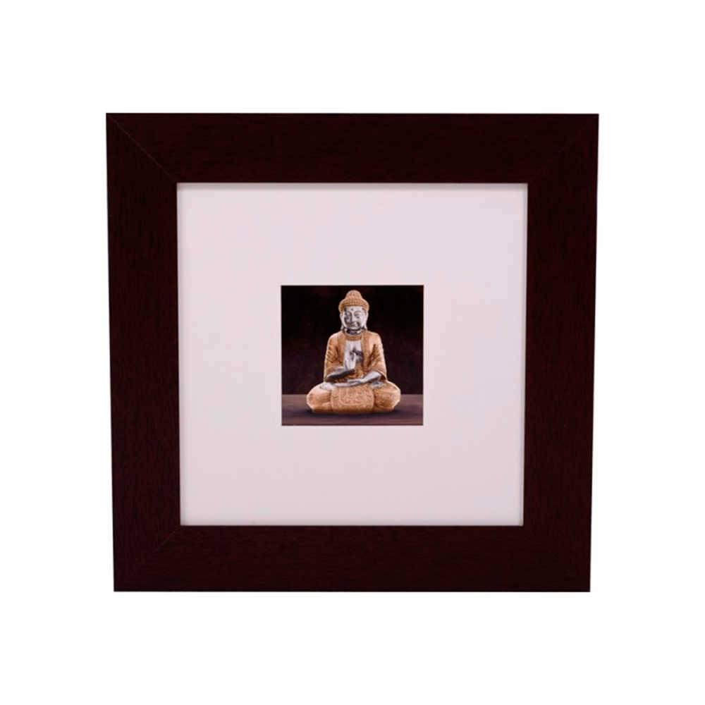 Quadro Decorativo Budismo em Madeira - 51x51 cm
