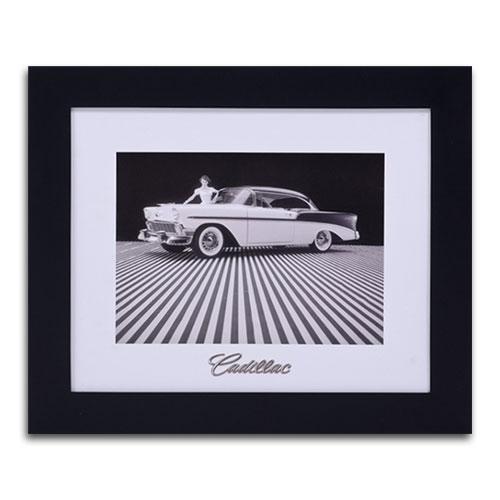 Quadro Decorativo Cadillac Preto e Branco em Madeira - 61x51 cm