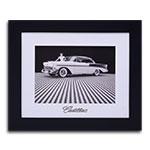 Quadro Decorativo Cadillac Preto e Branco em Madeira