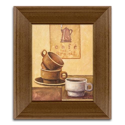 Quadro Decorativo Café Brasil em Madeira - 43x37 cm