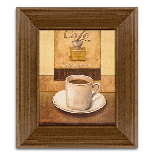 Quadro Decorativo Café Capuccino Brasil em Madeira - 43x37 cm