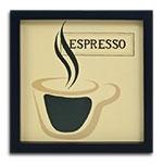Quadro Decorativo Café Expresso em Madeira