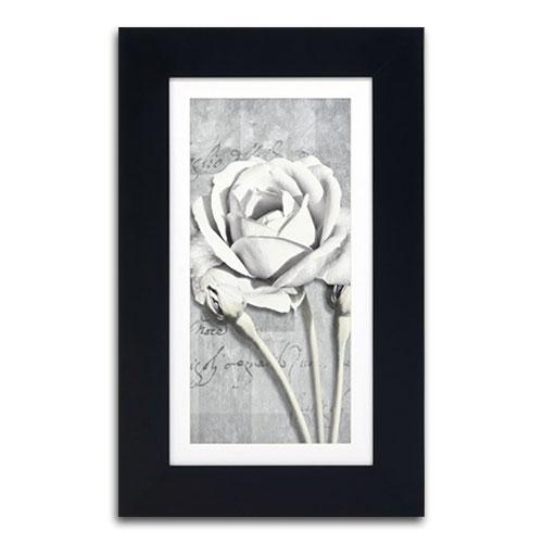 Quadro Decorativo Carta e Flor em Madeira - 68x42 cm
