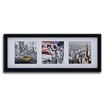 Quadro Decorativo Cartões Postais de New York em Madeira