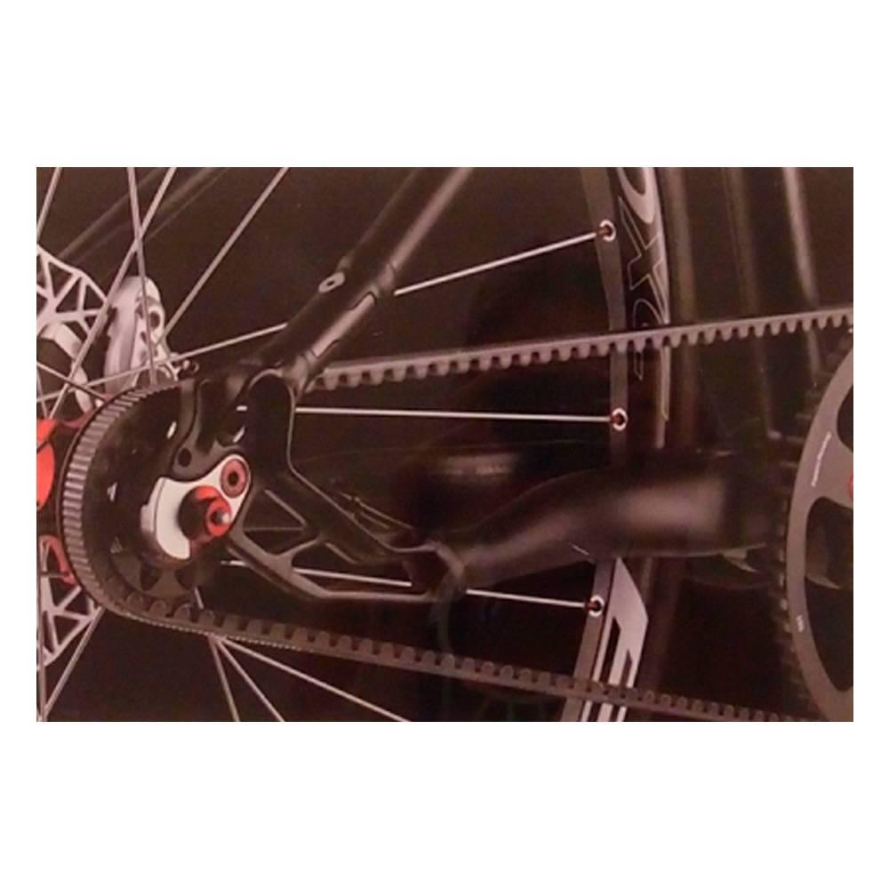 Quadro Decorativo Catraca Traseira de Bicicleta Preta em Vidro - 30x20 cm