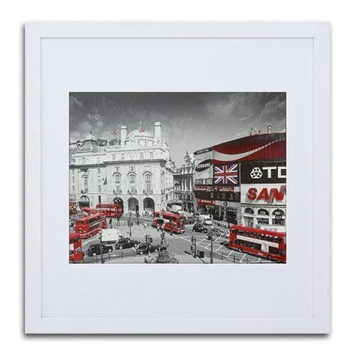 Quadro Decorativo Central London em Madeira - 69x67 cm
