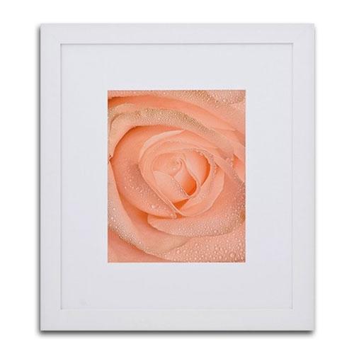 Quadro Decorativo O Centro da Rosa em Madeira - 86x76 cm