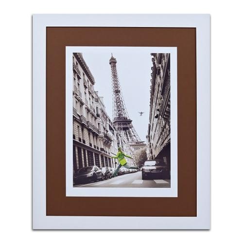 Quadro Decorativo Centro e Torre Eiffel em Madeira - 113x93 cm