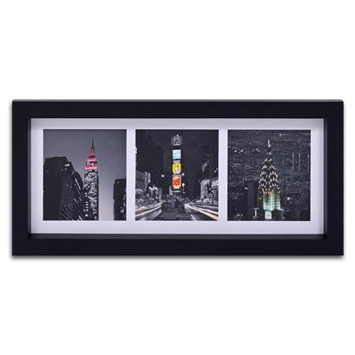 Quadro Decorativo Cidade de New York - USA em Madeira - 55x25 cm