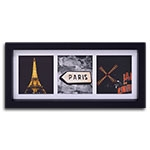 Quadro Decorativo Cidade de Paris - França - em Madeira