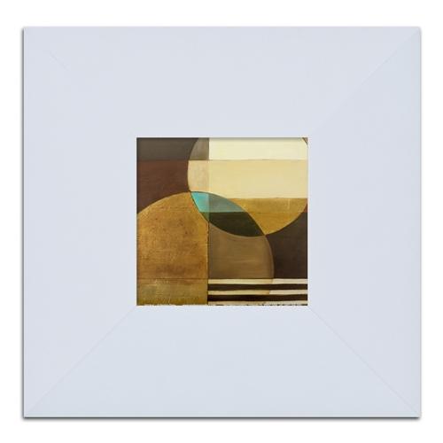 Quadro Decorativo Circles And Lines em Madeira - 32x32 cm