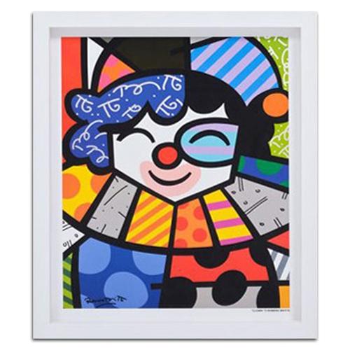 Quadro Decorativo Clown em Madeira - 45x38 cm