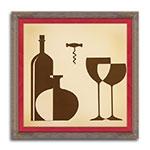 Quadro Decorativo Copa de Vino - Elegance - em Madeira