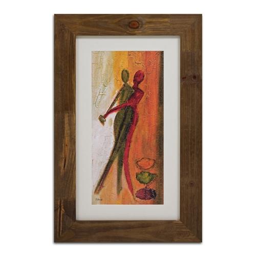 Quadro Decorativo Dança Abstrata II em Madeira - 72x46 cm