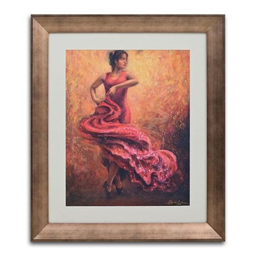 Quadro Decorativo Dança Argentina em Madeira - 67x57 cm