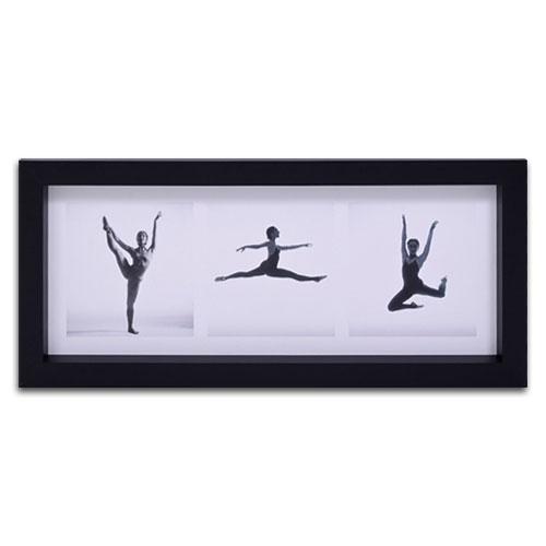 Quadro Decorativo Dança - Bailarinas - em Madeira - 55x25 cm