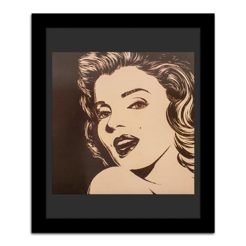 Quadro Decorativo Desenho Marilyn em Madeira - 107x89 cm
