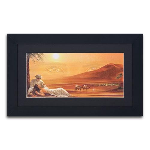 Quadro Decorativo Deserto em Madeira - 92x55 cm