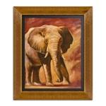 Quadro Decorativo Elefante em Madeira