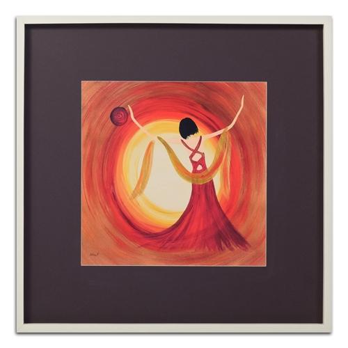 Quadro Decorativo Elegant Dance em Madeira - 83x83 cm