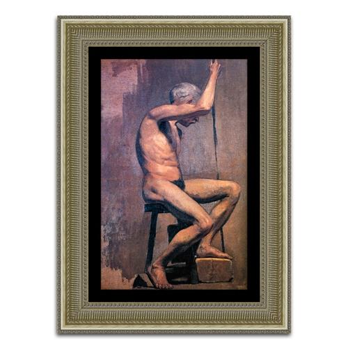 Quadro Decorativo Estudo Acadêmico em Madeira - 102x75 cm