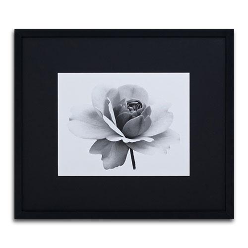 Quadro Decorativo Flor Branca II em Madeira - 81x71 cm