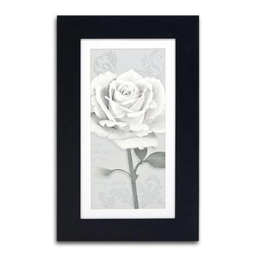 Quadro Decorativo Flor Branca em Madeira - 68x42 cm