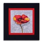 Quadro Decorativo Flor Laranja/Vermelha II em Madeira