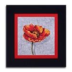 Quadro Decorativo Flor Laranja/Vermelha em Madeira