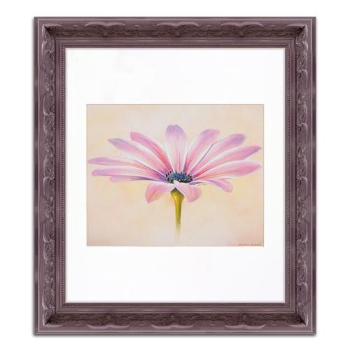 Quadro Decorativo Flor Lilás em Madeira - 36x31 cm