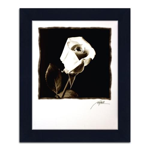 Quadro Decorativo Flor em Preto e Branco em Madeira - 84x69 cm