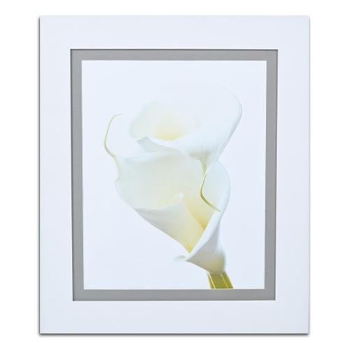 Quadro Decorativo Flor Única Branca em Madeira - 67x57 cm
