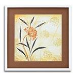Quadro Decorativo Flor Vintage em Madeira