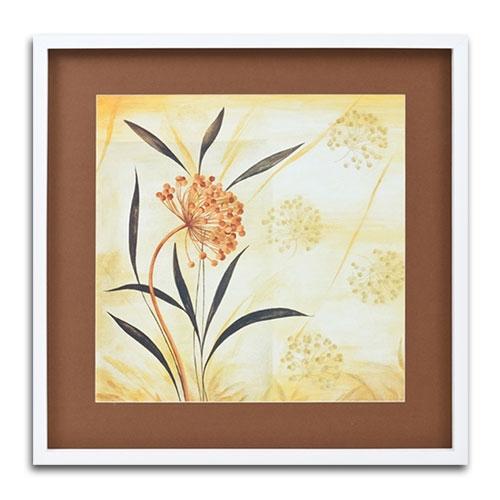 Quadro Decorativo Flor Vintage em Madeira - 68x68 cm