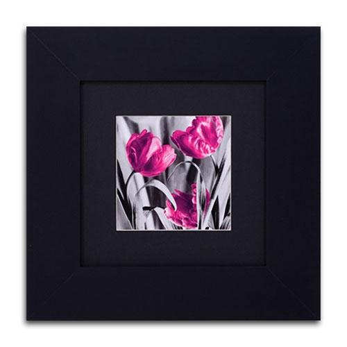 Quadro Decorativo Flora em Madeira - 39x39 cm