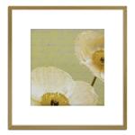 Quadro Decorativo Floral Branca I em Madeira Crua