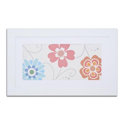 Quadro Decorativo Flores Românticas em Madeira - 95x58 cm